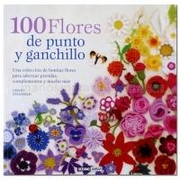100 Flores de punto y ganchillo -