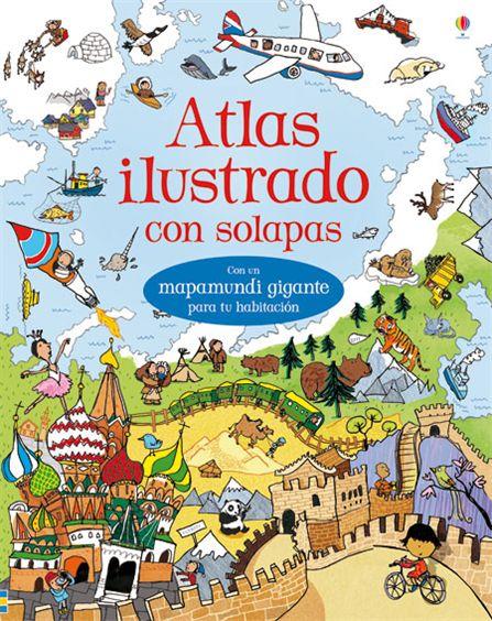 ATLAS ILUSTRADO CON SOLAPAS -