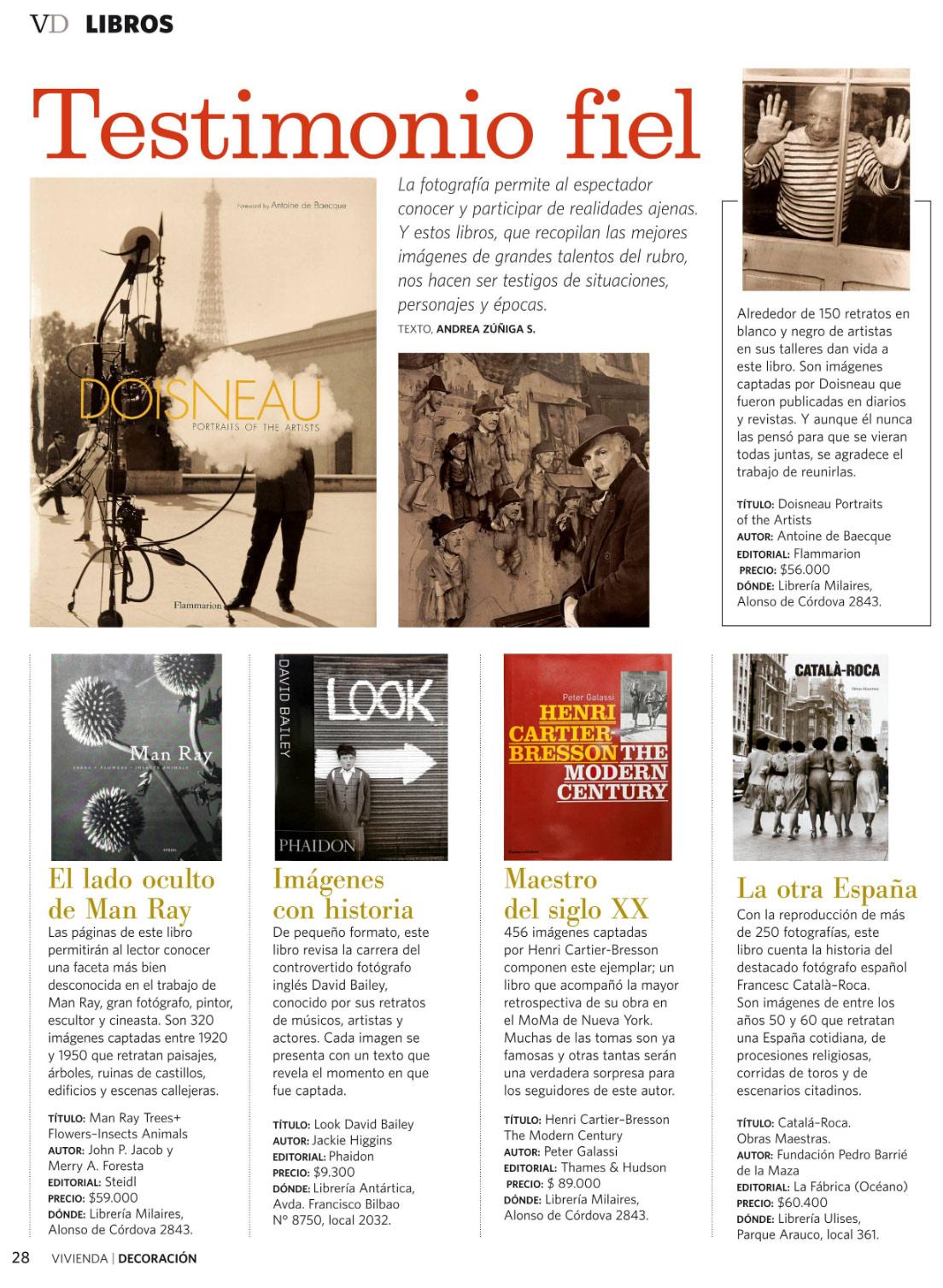 Libros en Revista VD el mercurio, 31-07-2010 - MilAires, Boutique del Libro.