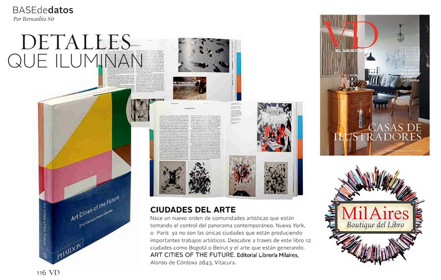Libro destacado de MilAires en revista VD El Mercurio - Art Cities of the Future - MilAires, La Tienda.