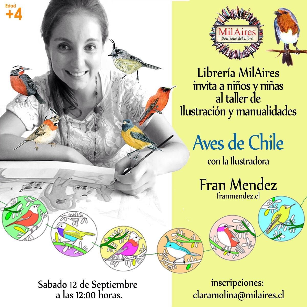 Taller Guirnaldas aves de Chile  - MilAires, La Tienda.