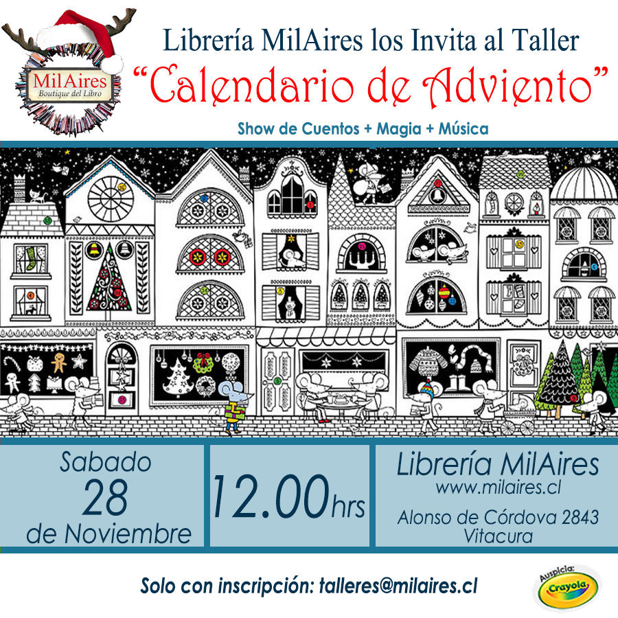 Taller Calendario de Adviento - MilAires, La Tienda.