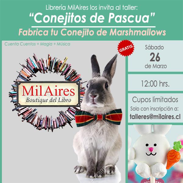Taller infantil CONEJITOS DE PASCUA - MilAires, Boutique del Libro.