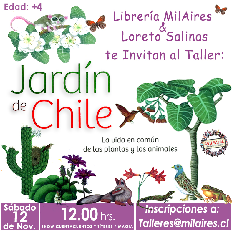 Taller Jardin de Chile - MilAires, Boutique del Libro.