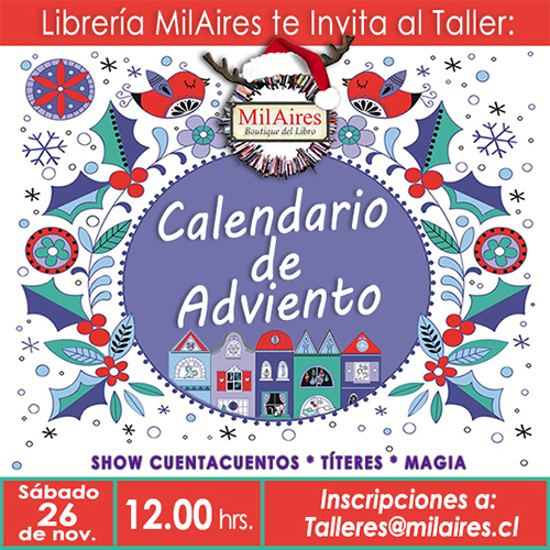 Taller Calendario Advento - MilAires, Boutique del Libro.
